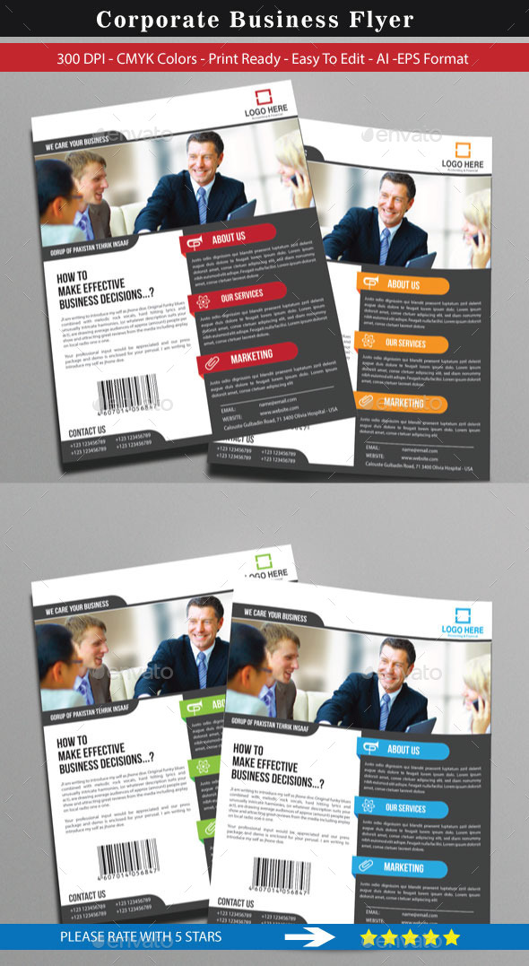 GraphicRiver Corporate Flyer For Business 8996133