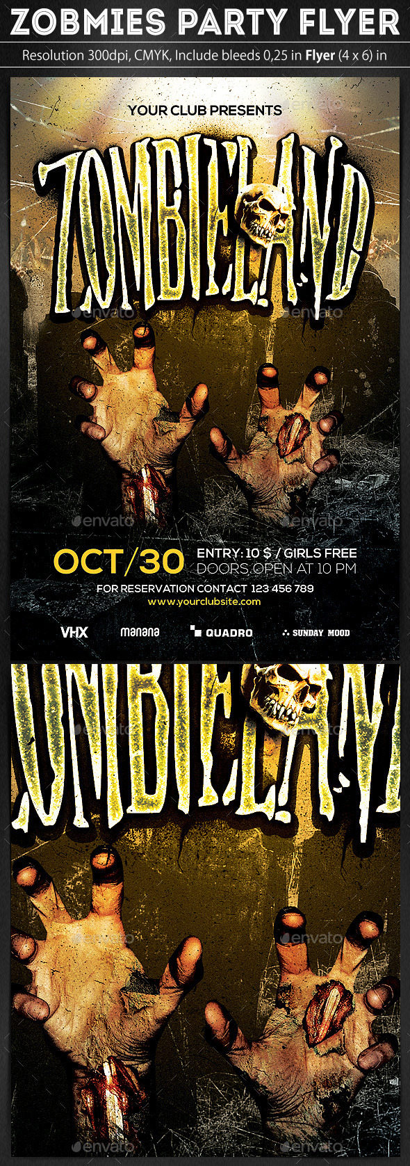 GraphicRiver Zombies Party Flyer 8996407