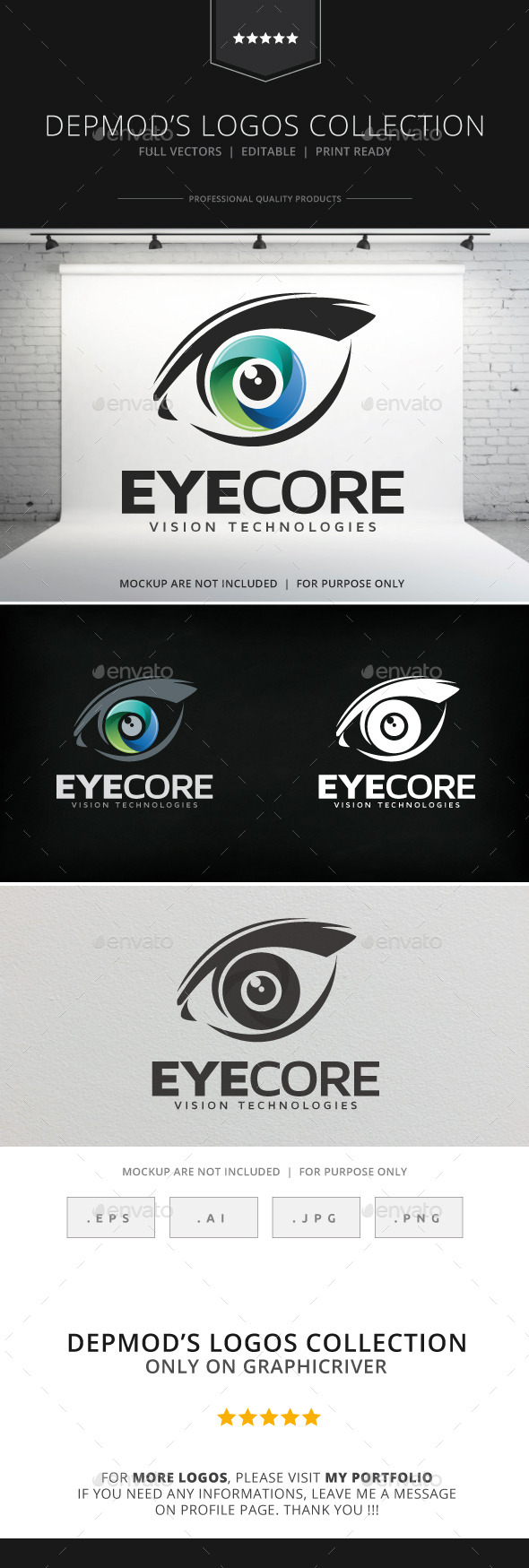 GraphicRiver Eye Core Logo 8996457