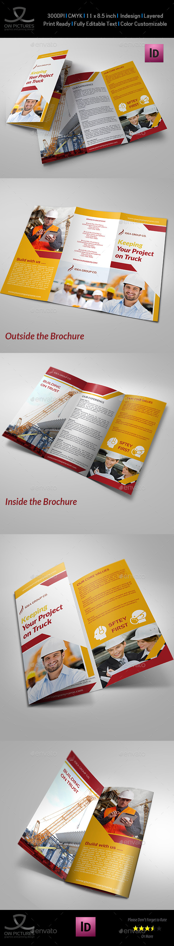 GraphicRiver Construction Business Tri-Fold Brochure Vol.3 8996646