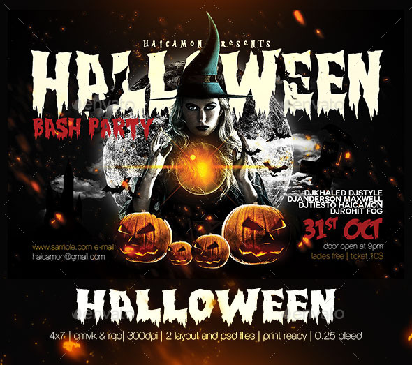 GraphicRiver Halloween Party Flyer 8996867