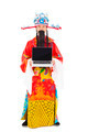 God of wealth standing and  holding a laptop over white background - PhotoDune Item for Sale