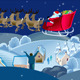 Santa Over Winter Landscape - ActiveDen Item for Sale