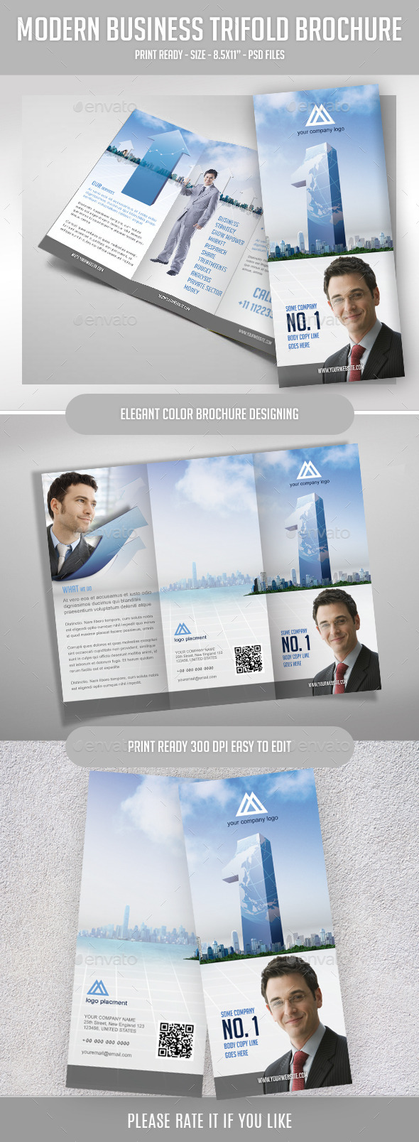 GraphicRiver Tri-fold Brochure for Top Business Agency 8974039