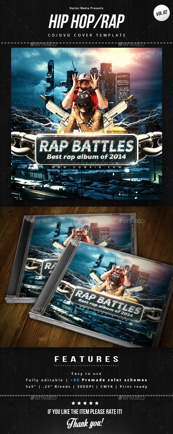 GraphicRiver Hip Hop Rap Cd Cover [Vol.2] 8997405