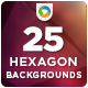 25 Hexagon Backgrounds - GraphicRiver Item for Sale