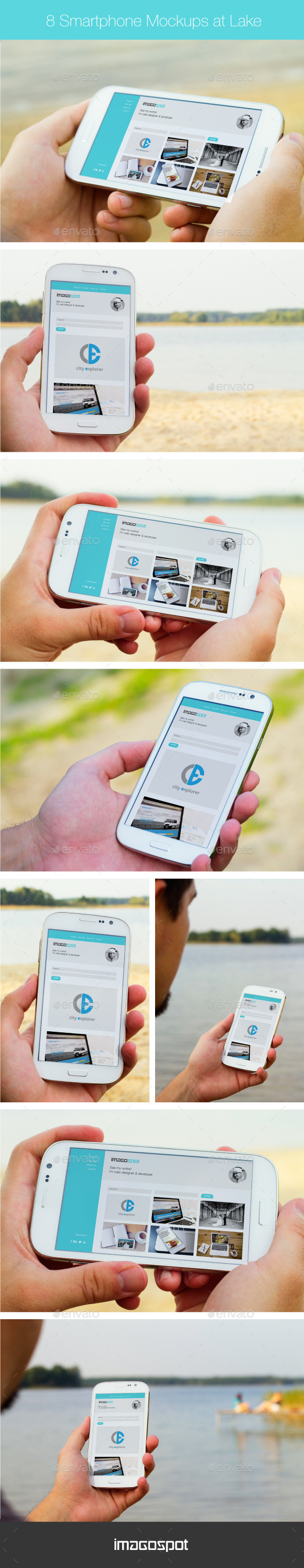 GraphicRiver Realistic Outdoor Smartphone Mockups 8997450