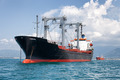 commercial cargo ship on ocean - PhotoDune Item for Sale