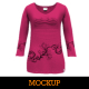 Womens 3/4 Sleeve Shirt Mockup - GraphicRiver Item for Sale