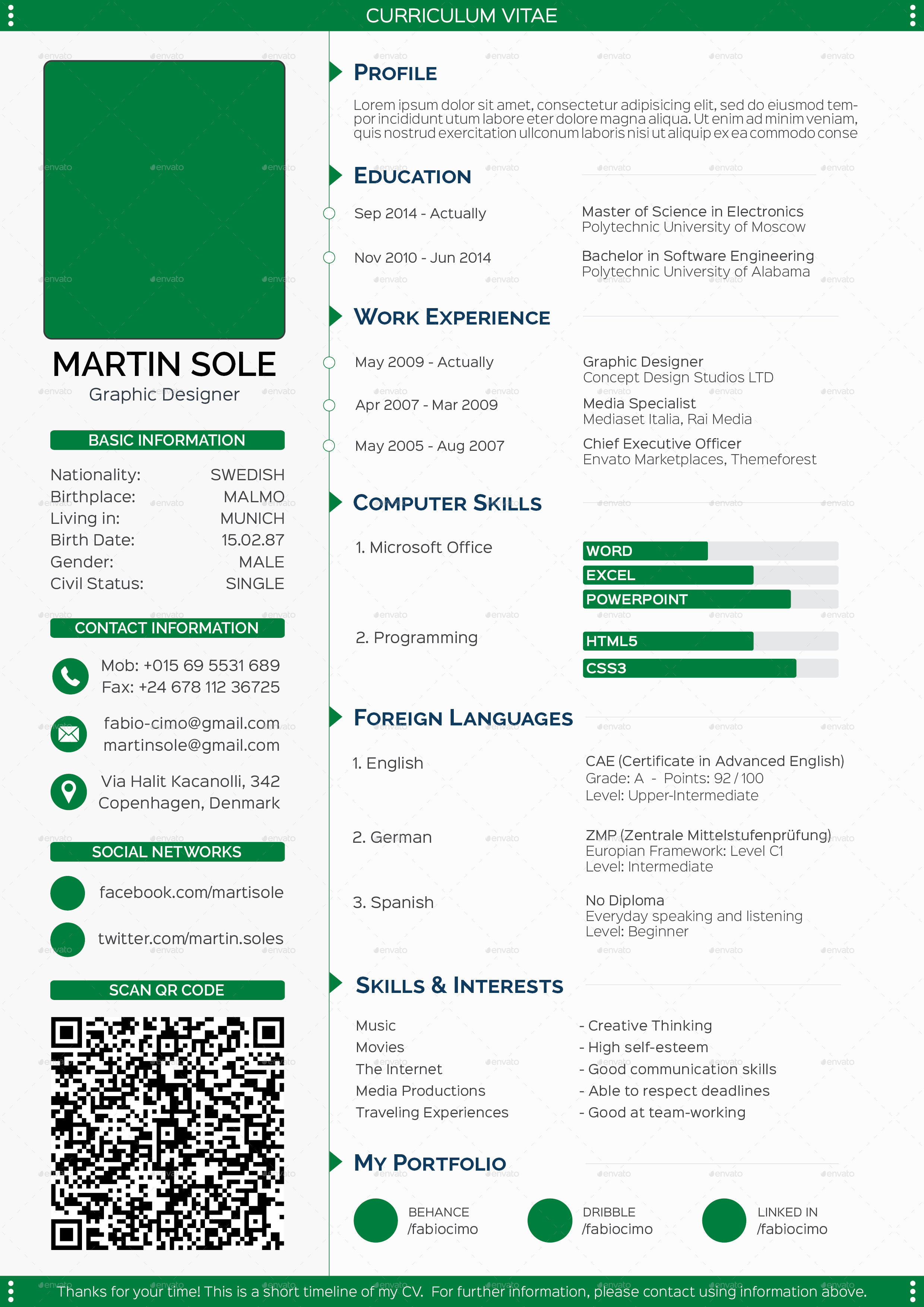 Cool 1 Page Proposal Template Huge 10 Minute Resume Rectangular 101 Modern Resume Samples 1099 Invoice Template Young 16th Birthday Invitation Templates White18th Birthday Invitation Templates Clean Multipurpose CV Template By Fabiocimo   GraphicRiver