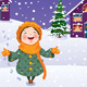 Girl Enjoys the Snow - GraphicRiver Item for Sale