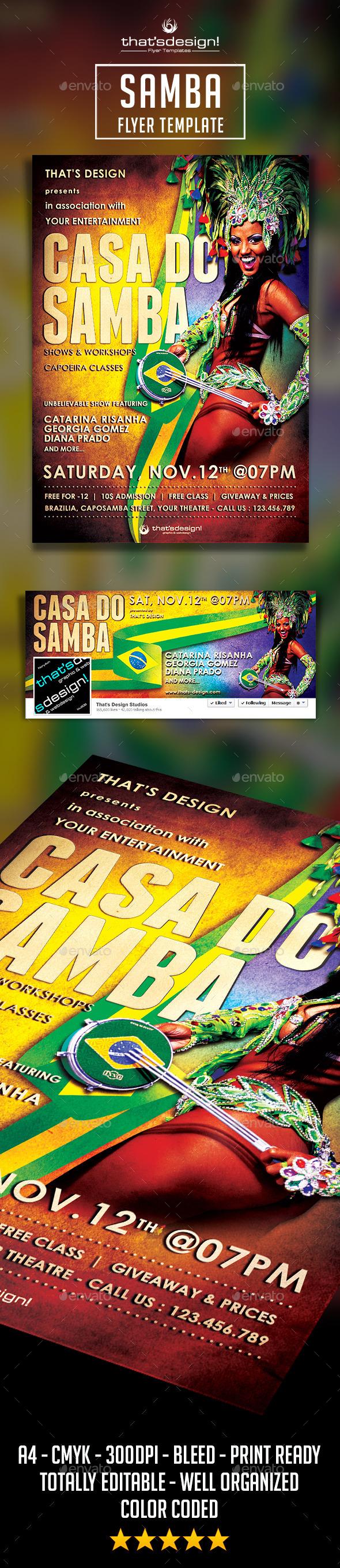 Samba Flyer Template