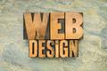 web design in wood type - PhotoDune Item for Sale