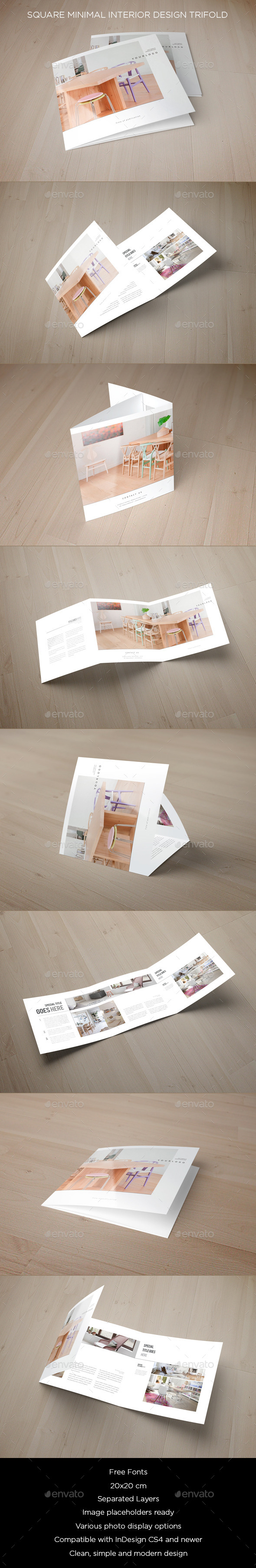 GraphicRiver Square Minimal Interior Design Trifold 8998194