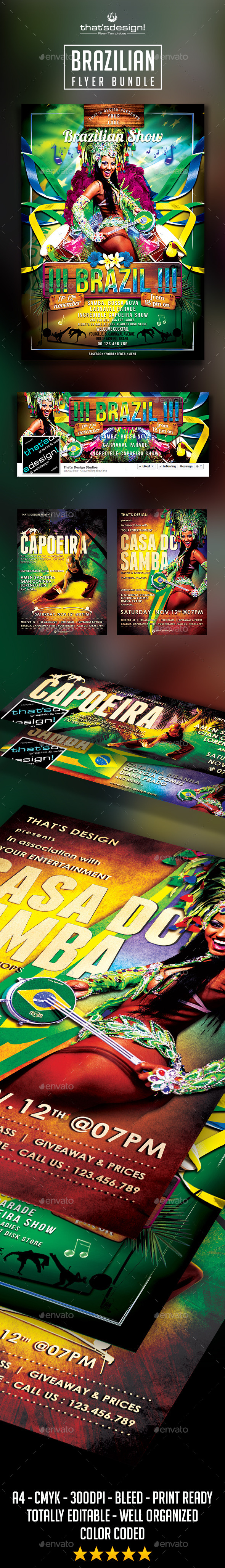 Brazilian Flyer Bundle - Clubs & Parties Events