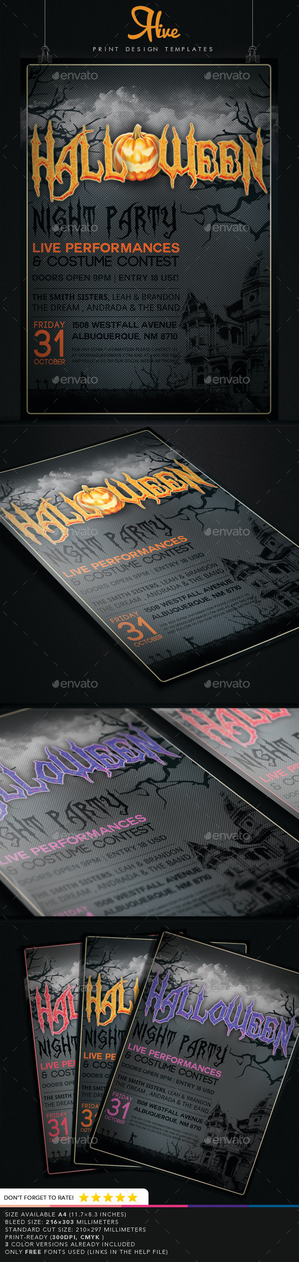 GraphicRiver Halloween Event Flyer 8998347