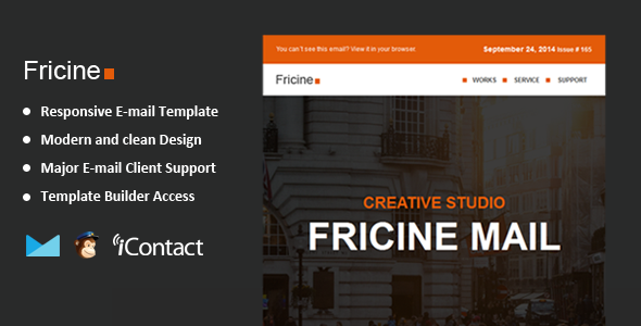 ThemeForest Fricine Responsive Email & Themebuilder Access 8998515