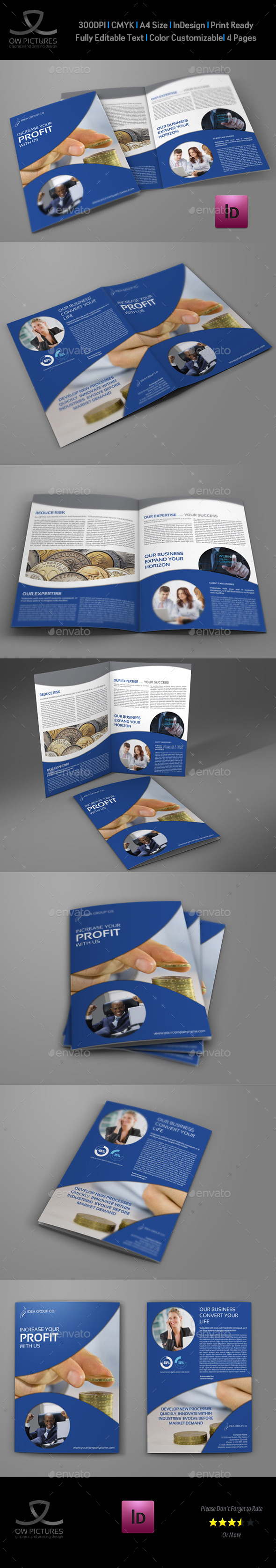 GraphicRiver Company Brochure Bi-Fold Template Vol.30 8998554