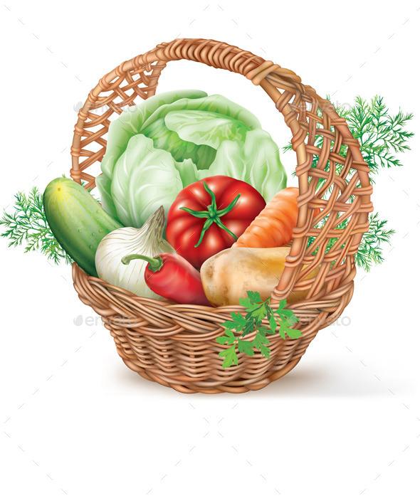 GraphicRiver Basket of Vegetables 8998556