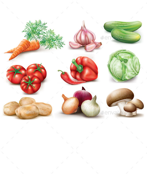 GraphicRiver Vegetables Collection 8998667
