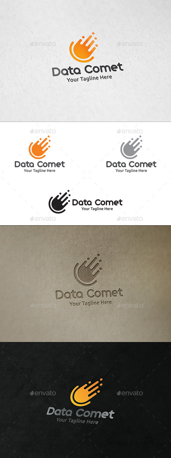 GraphicRiver Data Comet Logo Template 8998671