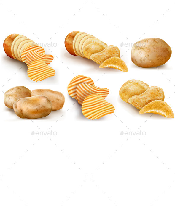 GraphicRiver Potatoes and Chips Collection 8998689