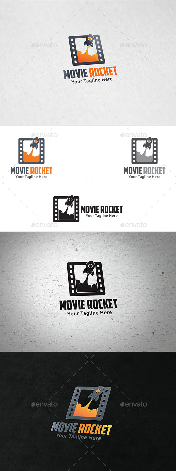 GraphicRiver Movie Rocket Logo Template 8998764