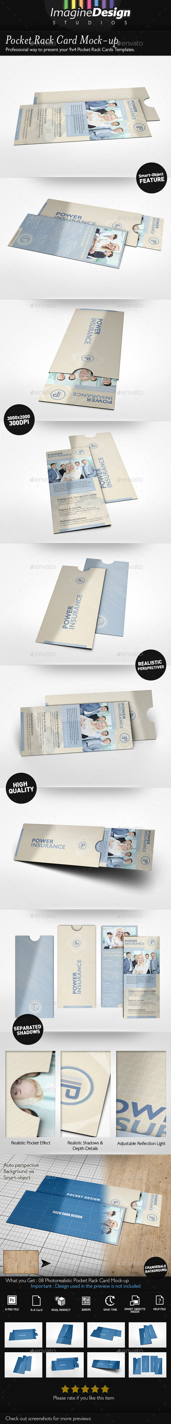 GraphicRiver Pocket Rack Card Mock-up 8998804