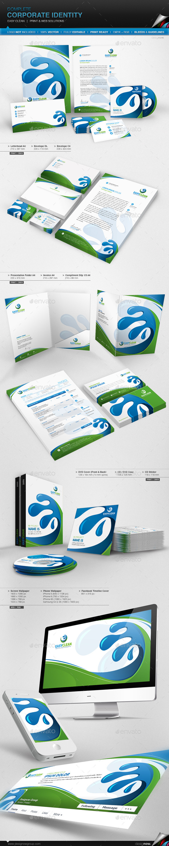 GraphicRiver Corporate Identity Easy Clean 8999483