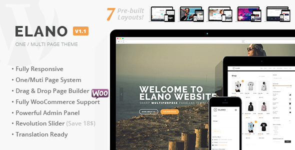 ThemeForest Elano Multi-Purpose Business & Ecommerce Wordpress Theme 8773615