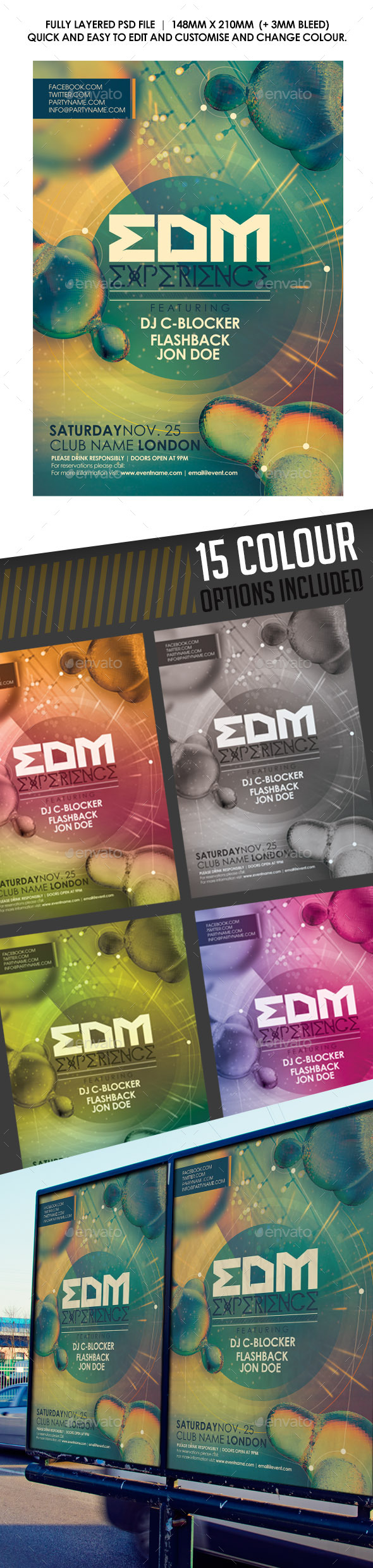 GraphicRiver EDM Experience Flyer 8999575