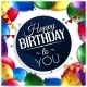 Birthday Card with Balloons and Birthday Text - GraphicRiver Item for Sale