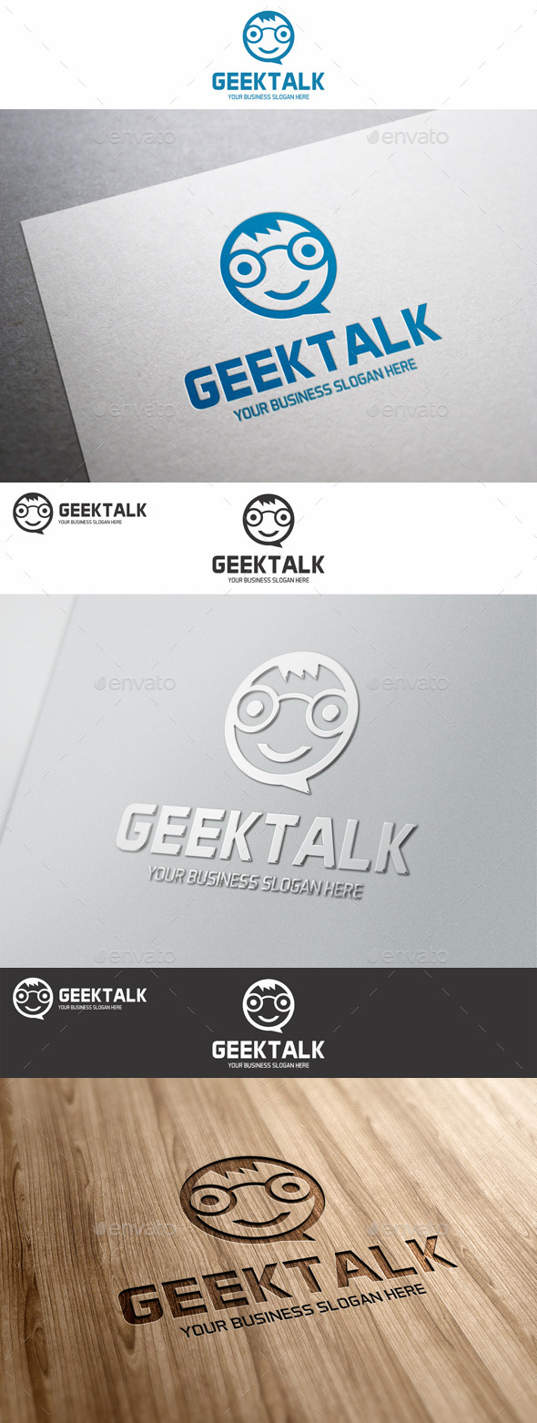 GraphicRiver Geek Talk Logo Template 8999696