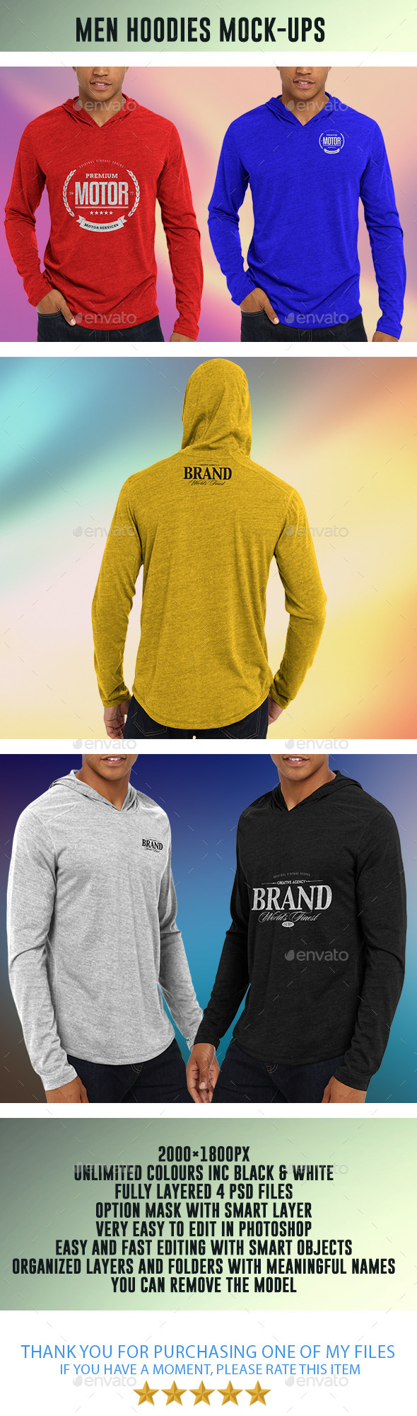 GraphicRiver Men Hoodies Mock-Ups 8999698