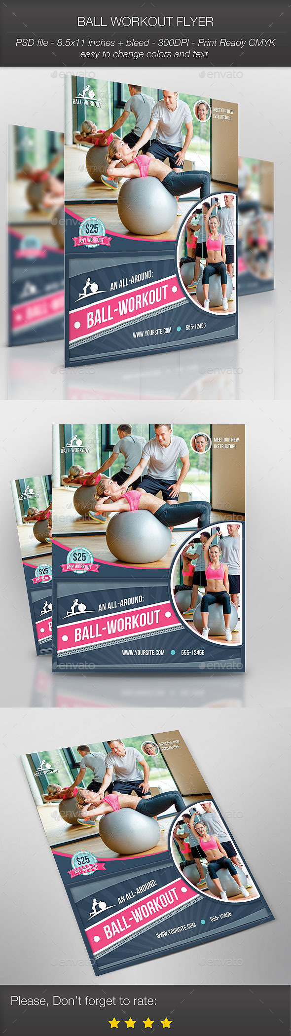 GraphicRiver Ball Workout Flyer 8999738