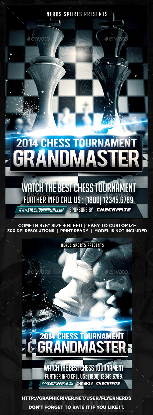 GraphicRiver Chess Tournament Flyer 8983699