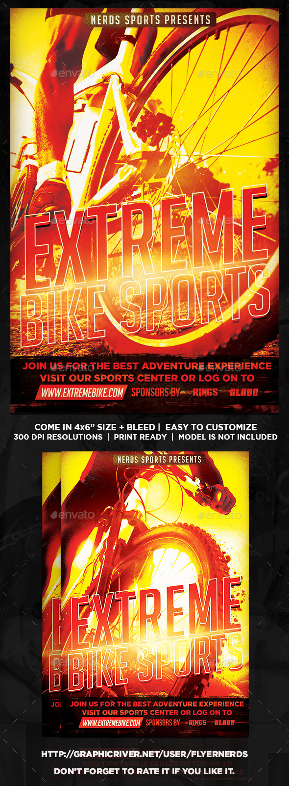 GraphicRiver Extreme Bike Sports Flyer 9000072