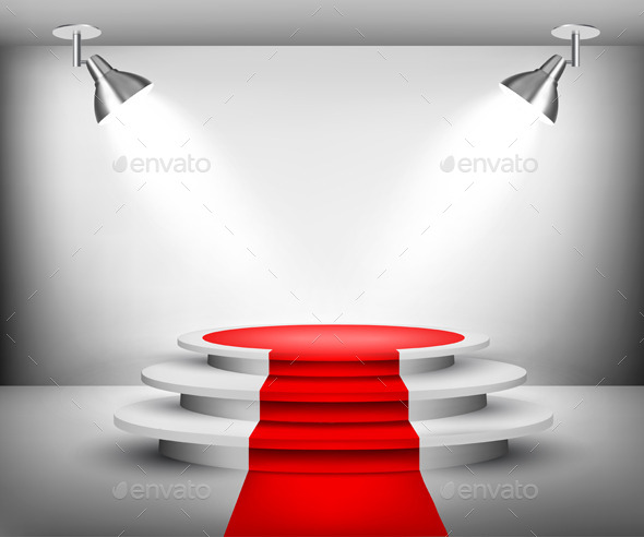 GraphicRiver Showroom with Red Carpet 9000074