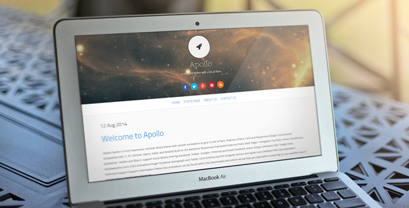 Apollo - Responsive Ghost Theme - Ghost Themes Blogging