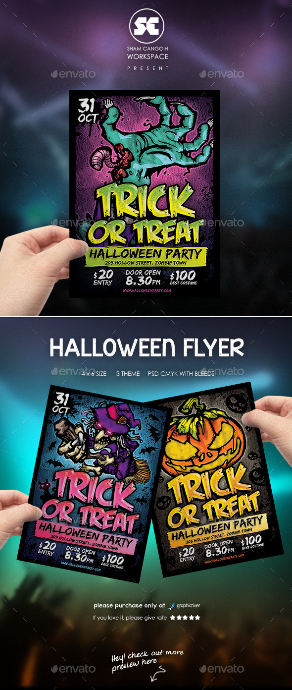 GraphicRiver Halloween Party Flyer 8988412