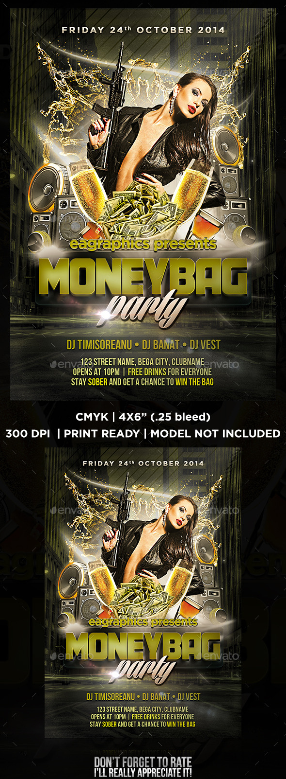 GraphicRiver MoneyBag Flyer for Party 9000144