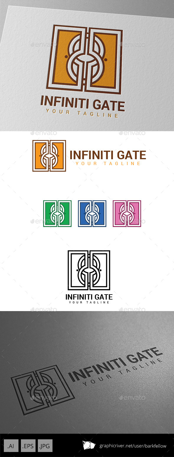 GraphicRiver Decorative Infinitive Ornament Gate Logo 9000157