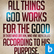 Romans 8:28 Typographic Church Flyer - GraphicRiver Item for Sale