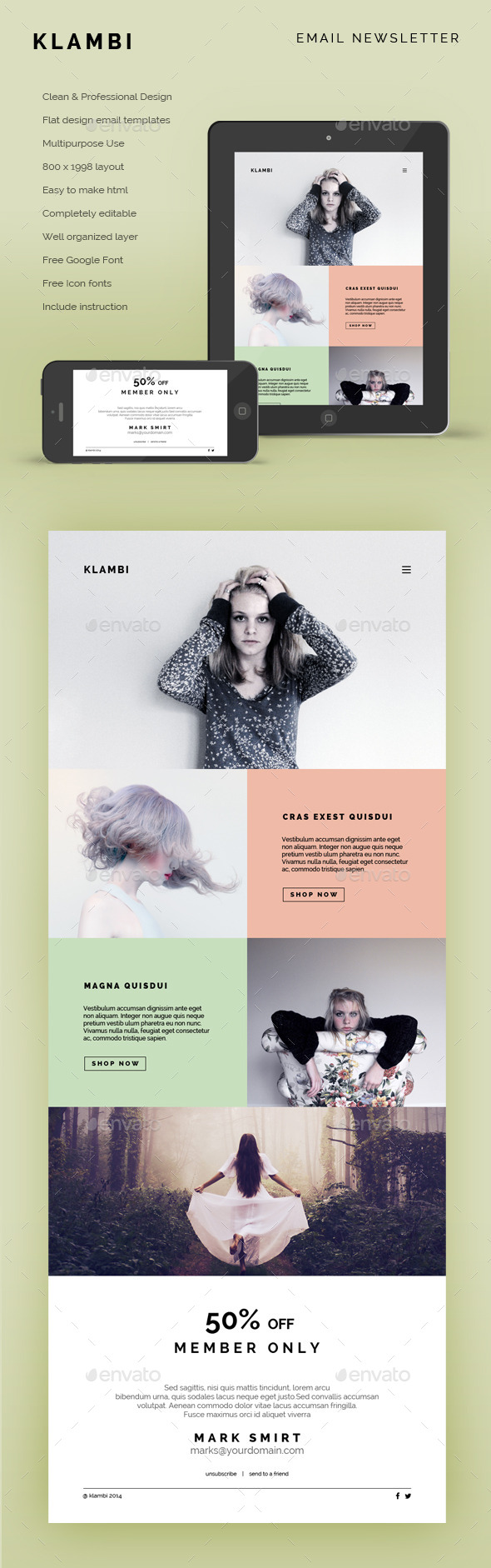 GraphicRiver Email Newsletter Klambi 9000294