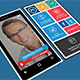 Windows Phone Style Colorful Business Card - GraphicRiver Item for Sale