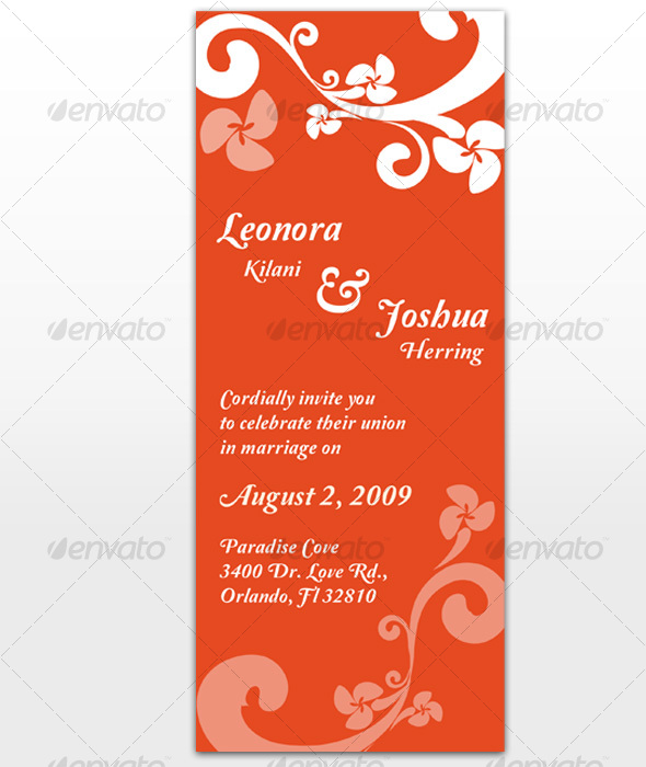 Paradise Wedding Invitation