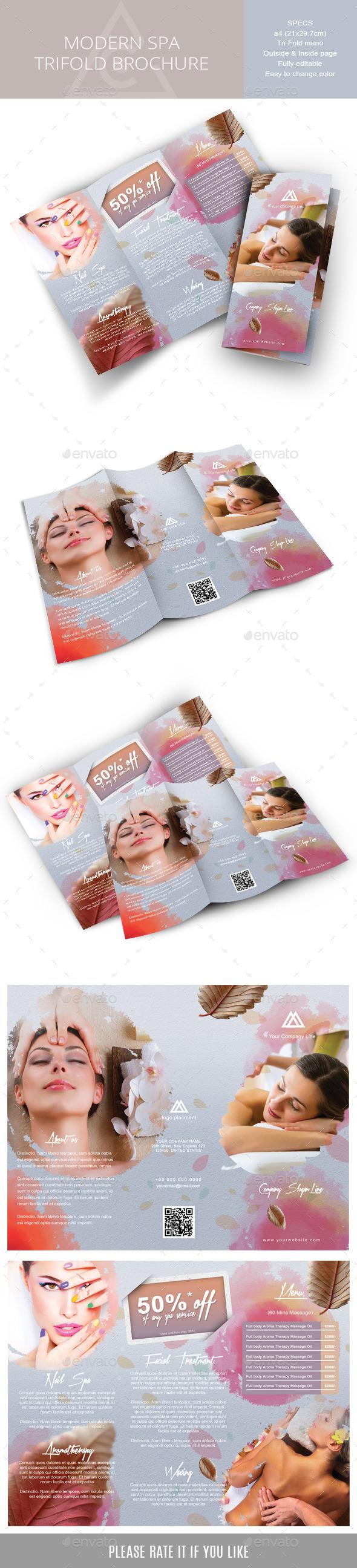 GraphicRiver Tri-fold brochure for Spa or Body-care Business 9000495