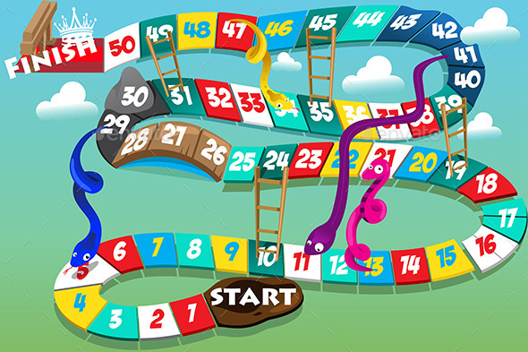 GraphicRiver Snakes and Ladders Game 9000509
