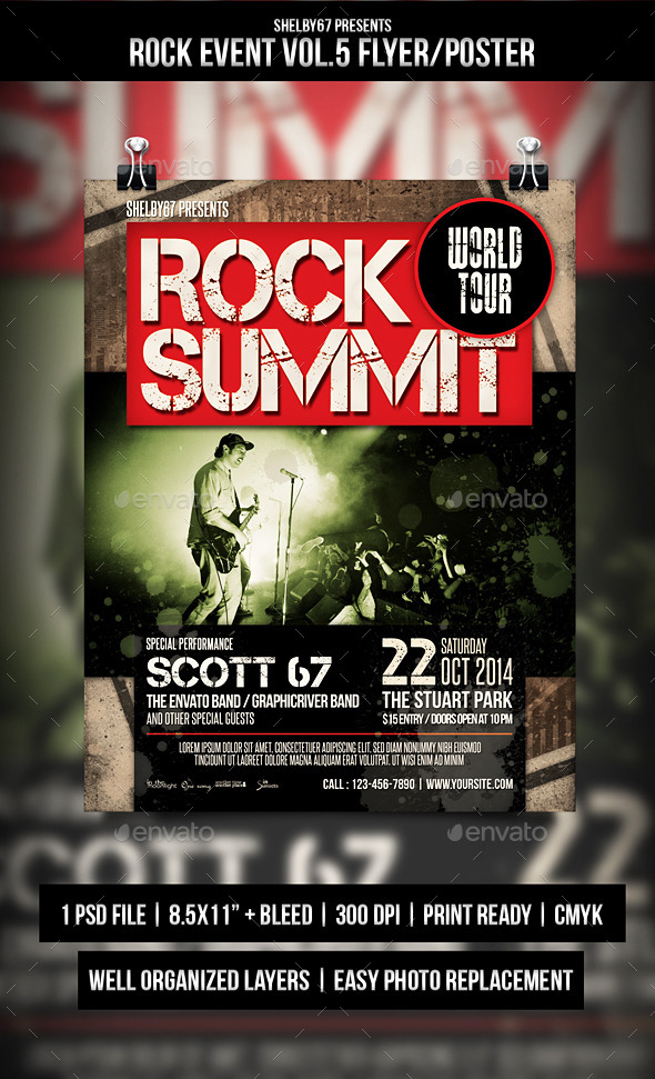 GraphicRiver Rock Event Flyer Poster Vol.5 9000625