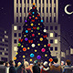 Crowd in the City Near Big Lit Christmas Tree - GraphicRiver Item for Sale